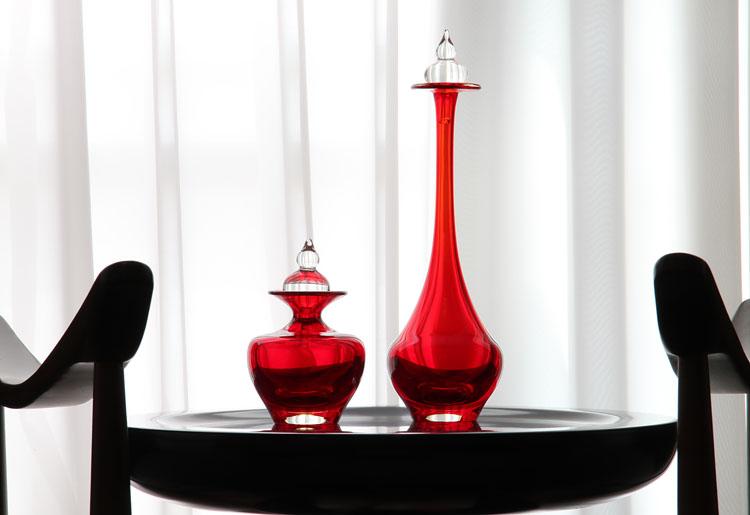 Garrafas Decorativas Vermelhas