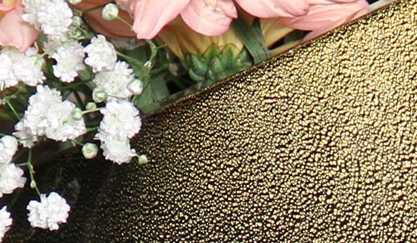 Vaso 96 MS Preto com Ouro